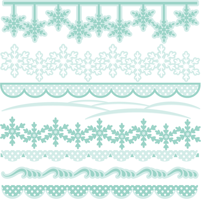Winter clipart divider. Borders svg cutting files
