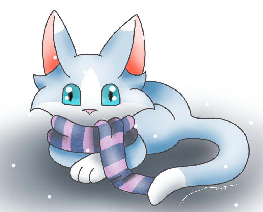 Winter clipart cat. Free cliparts download clip