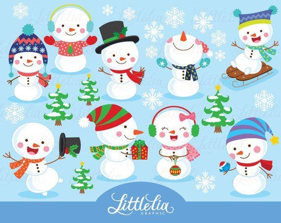 Winter clipart christmas. Snowman