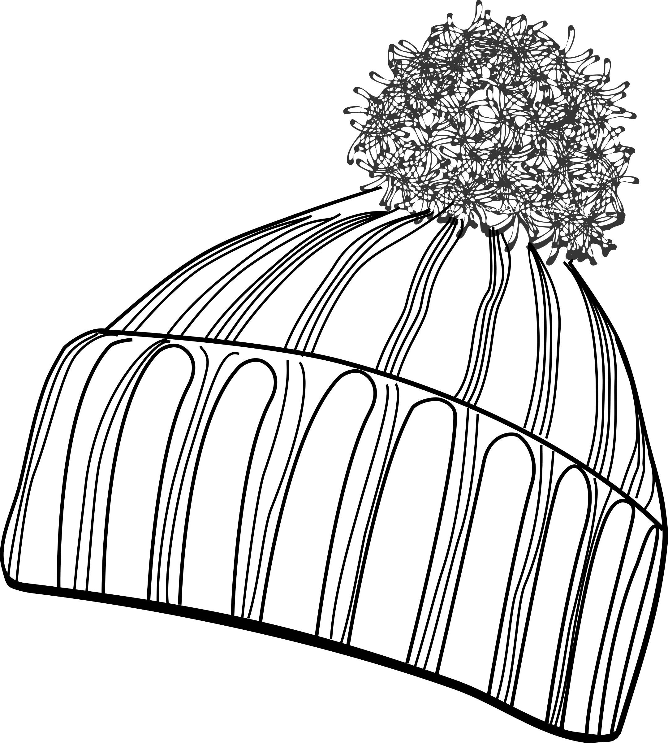 Hat clipart winter. Bobcap black white big