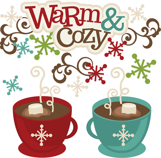 Warm svg cutting files. Winter clipart cozy