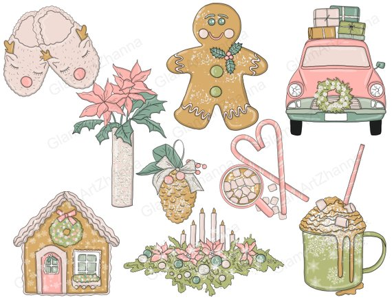 Clipart winter cozy. Christmas weekend holiday