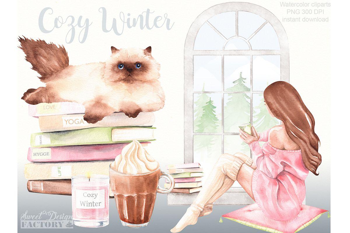 . Clipart winter cozy