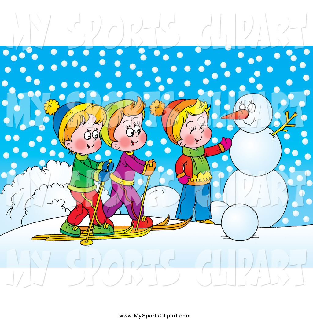 Panda free images . Clipart winter day