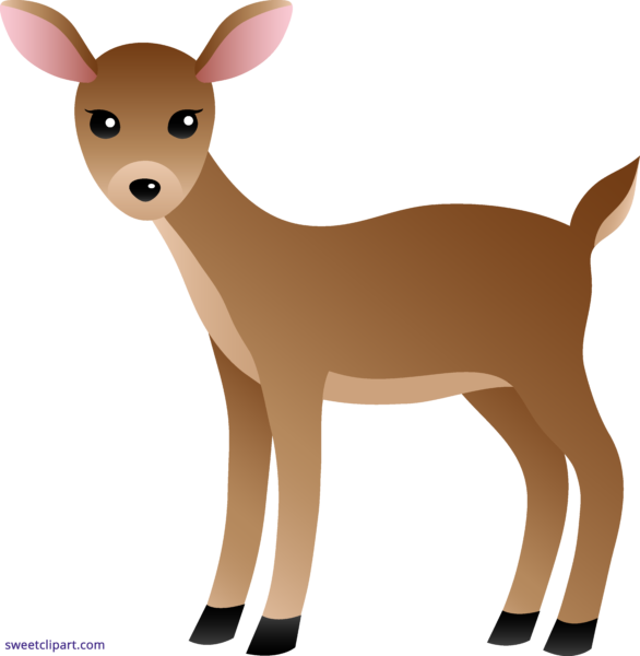 Deer clipart female deer. Sweet clip art page