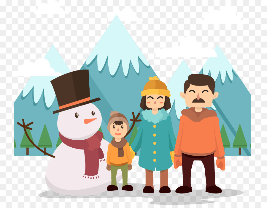 Snow christmas png download. Winter clipart family
