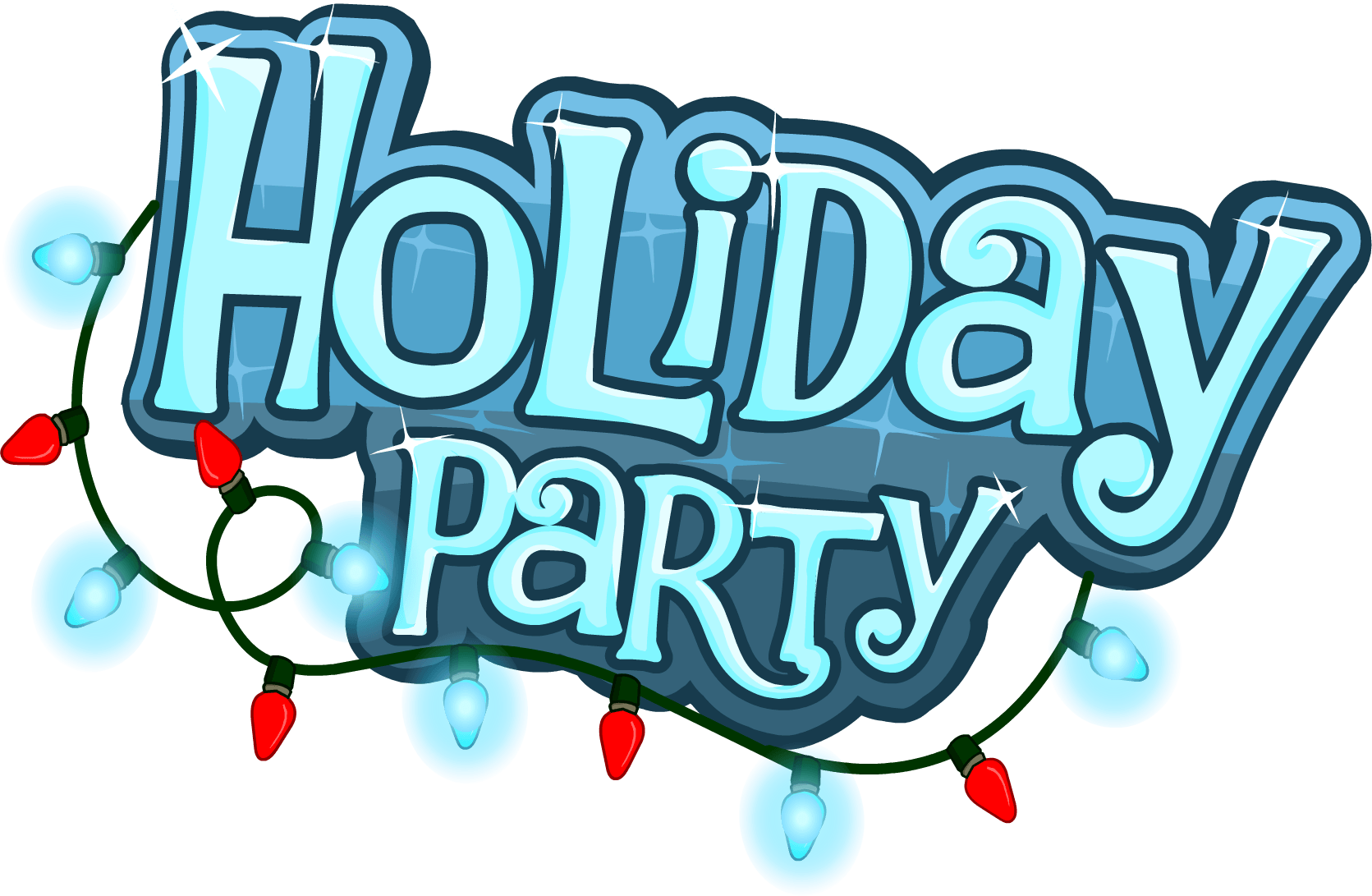 Holiday party celebration time. Clipart winter festival
