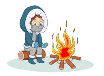 Winter clipart season. Fire