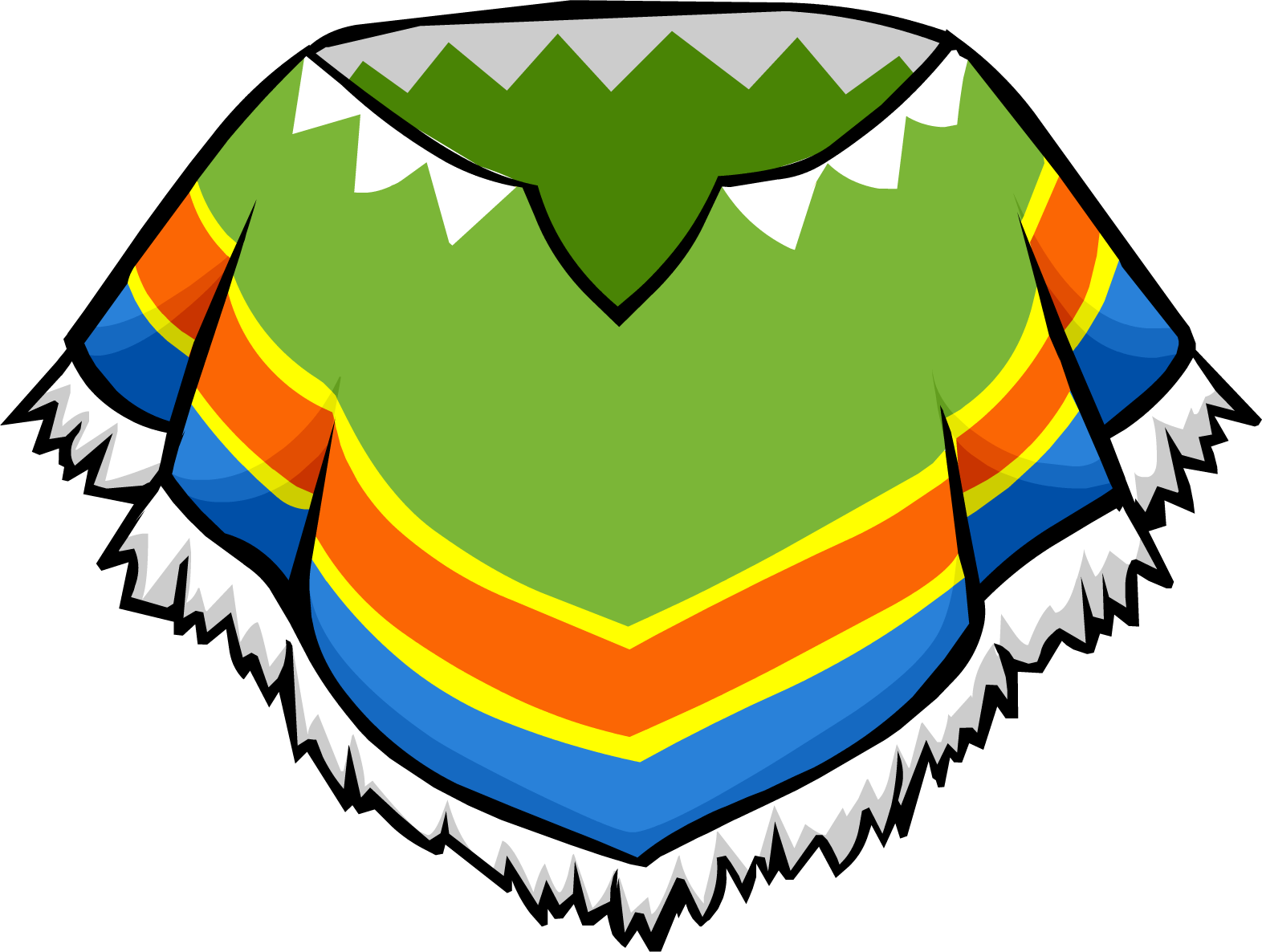 Mexico clipart transparent. Winter poncho club penguin