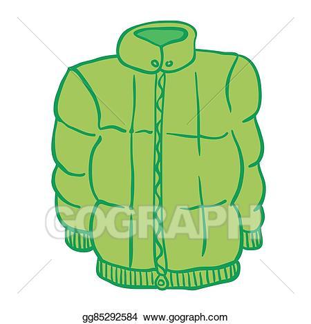 Vector illustration jacket eps. Winter clipart outerwear