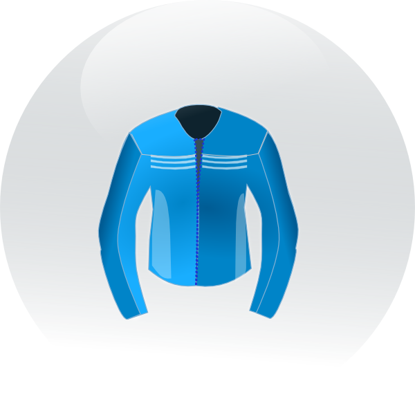 Winter clipart outerwear. Race jacket icon clip