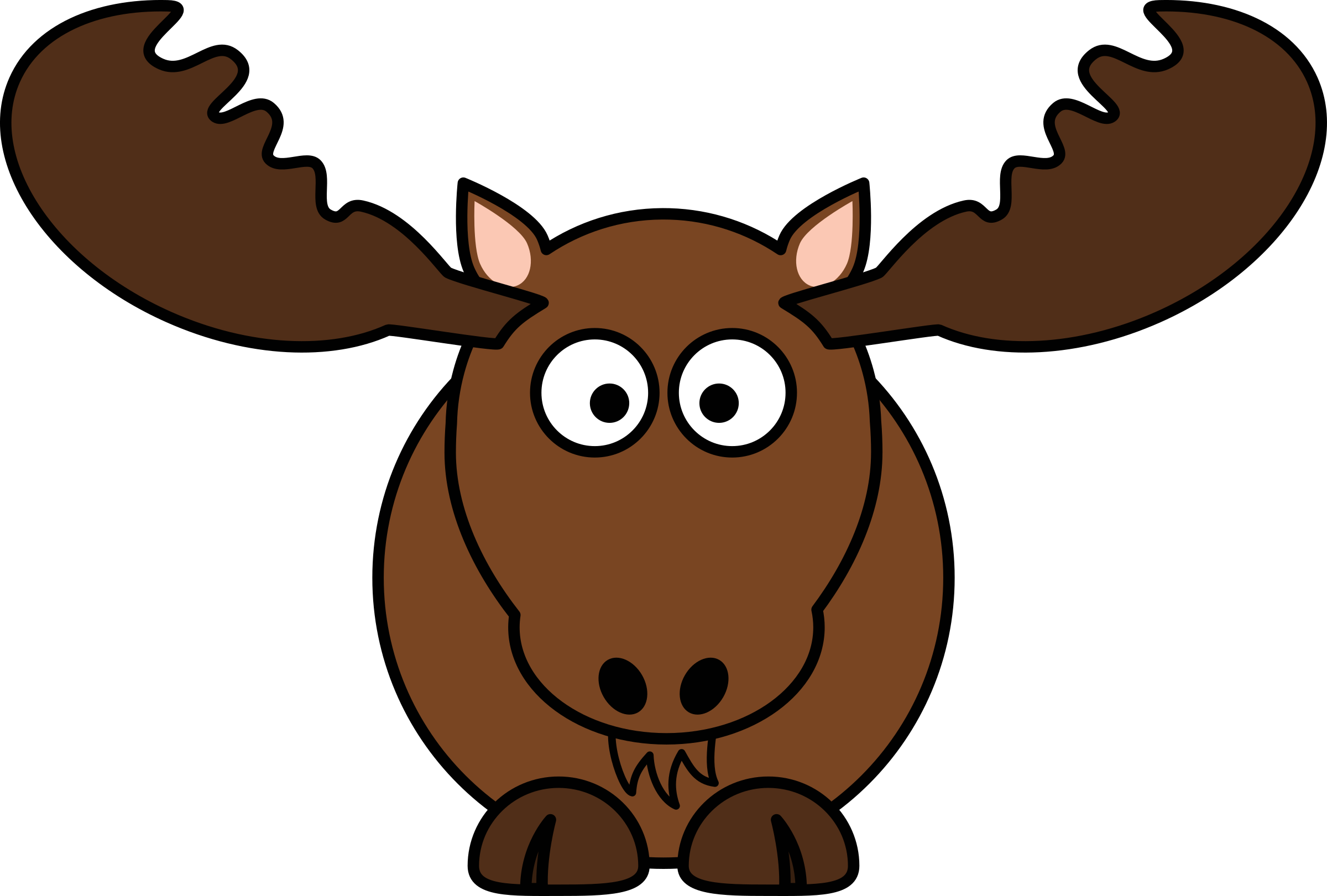 Clipart winter moose. Cartoon by studiofibonacci north