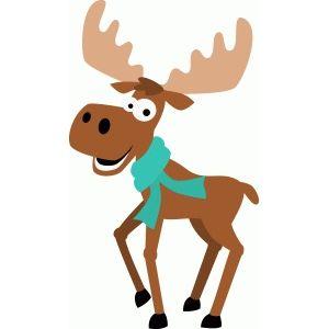 Cricut projects silhouette design. Winter clipart moose