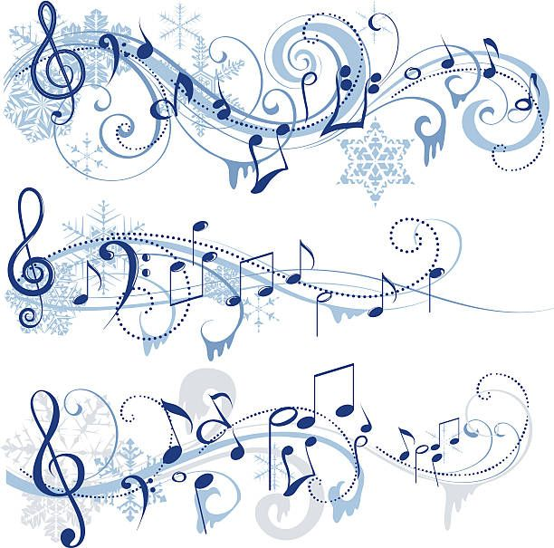 Winter clipart music. Musical funny things