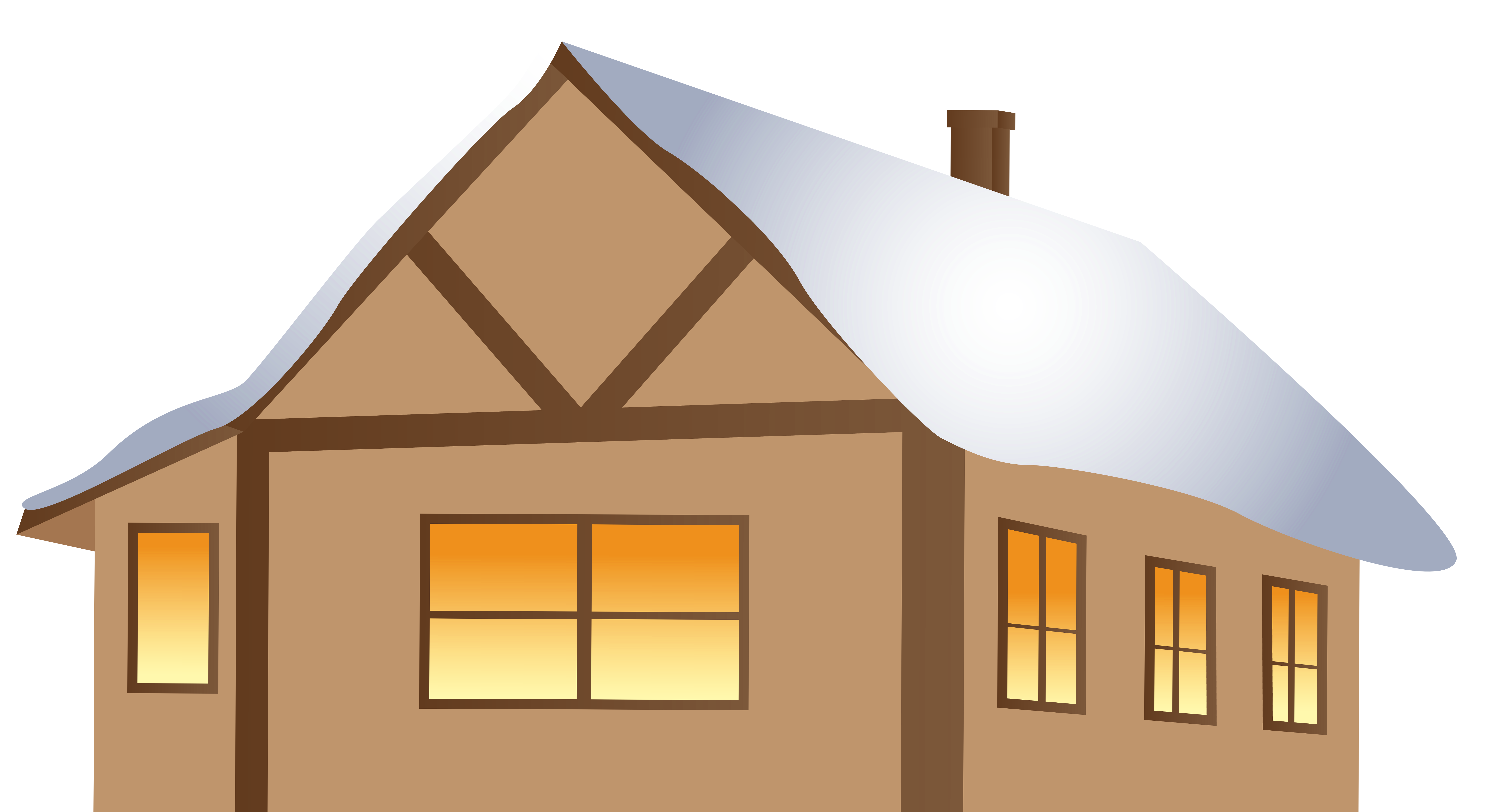 Winter clipart night. Brown house png image