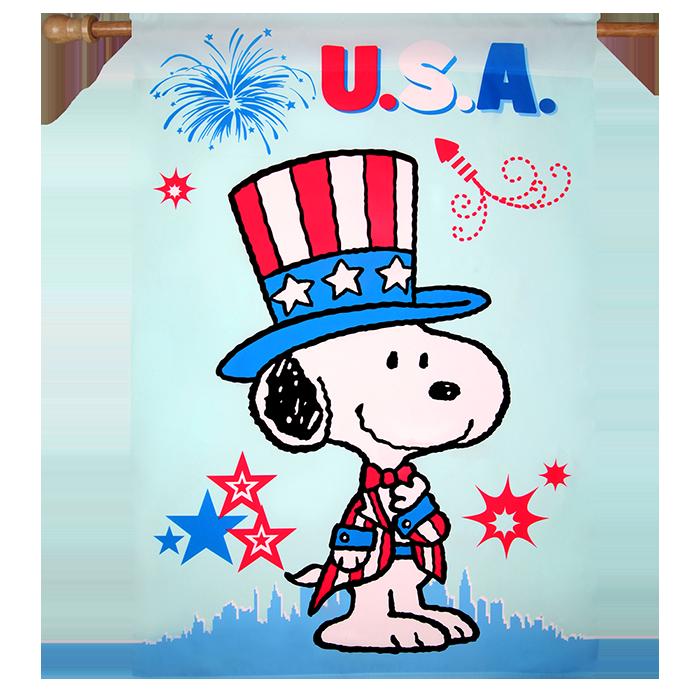 Patriotic usa house flag. Peanuts clipart winter