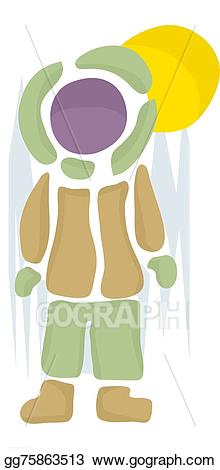 Clipart winter person. Eps vector abstract stock