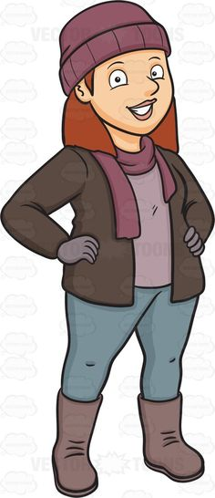 Clipart winter person.  best emotional females