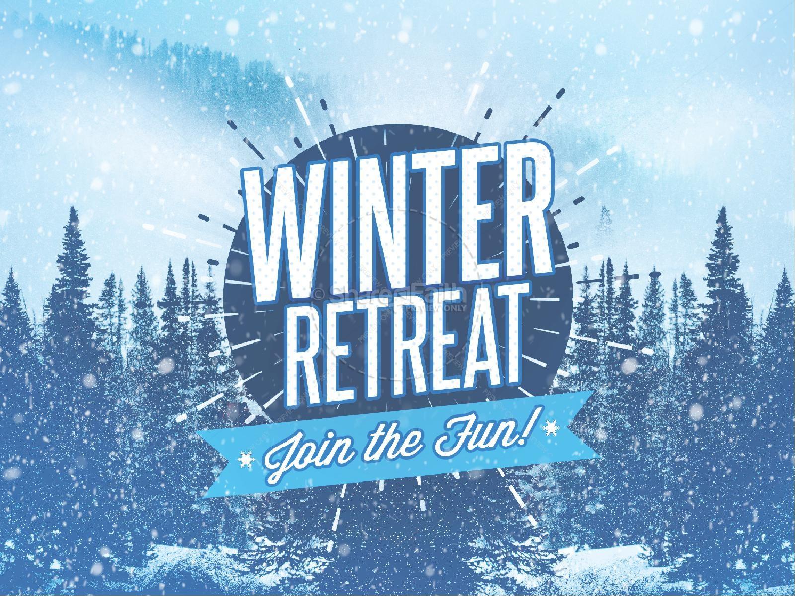 Snowy church powerpoint christmas. Winter clipart retreat