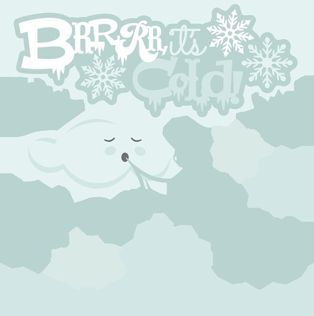 Brrrr it s cold. Clipart winter scrapbook