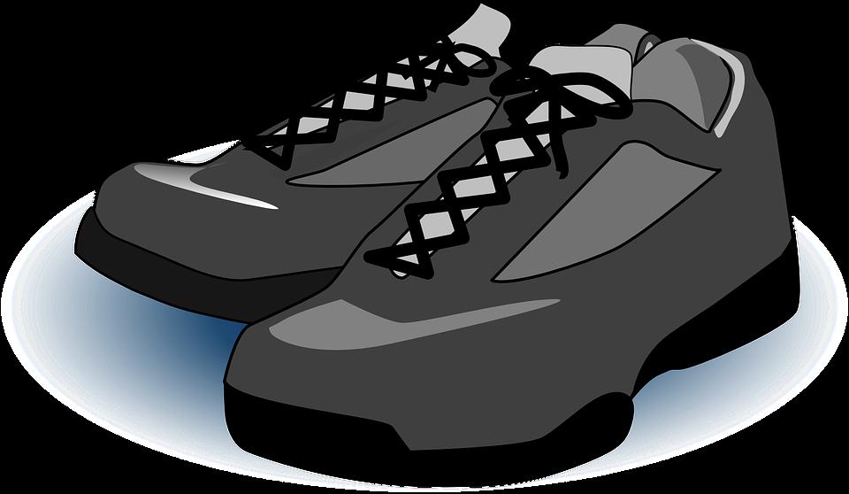 Cartoon shoes cliparts shop. Foot clipart vector