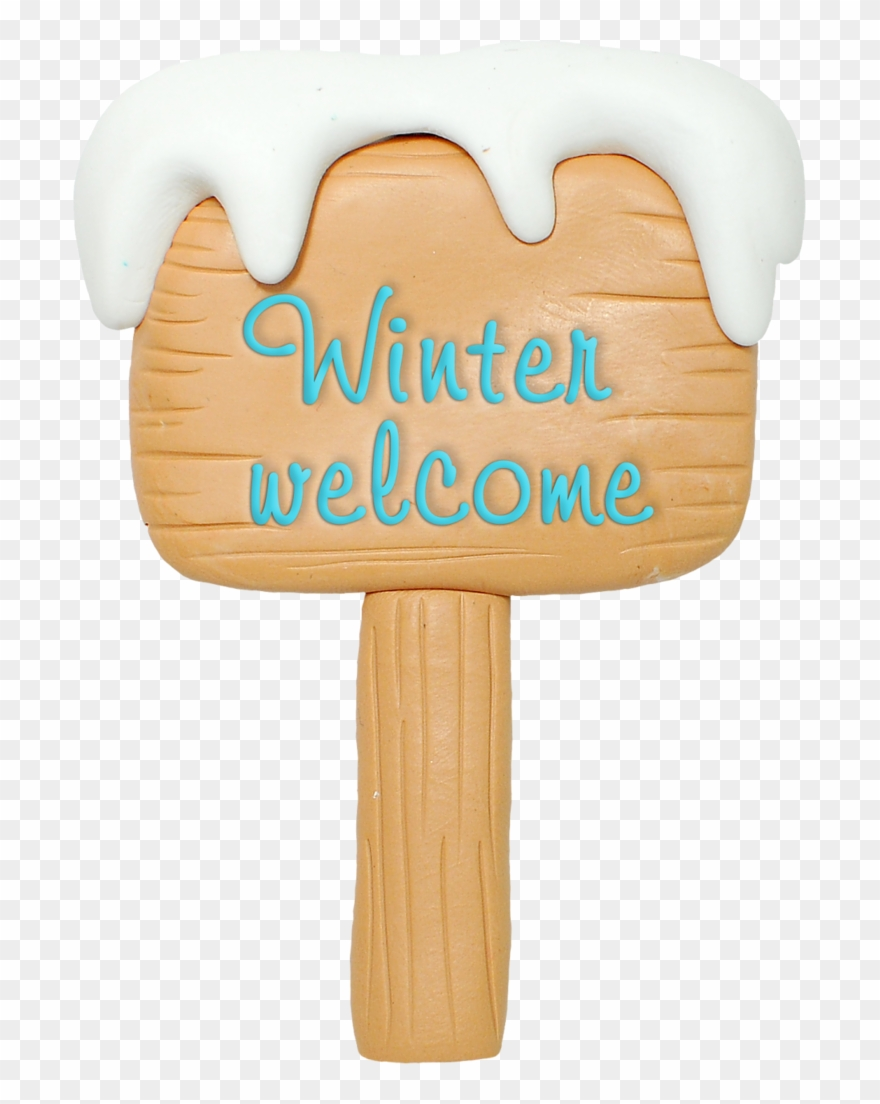 Christmas welcome . Winter clipart sign