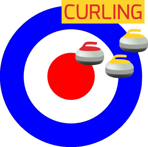 Curling sport clip art. Winter clipart icon