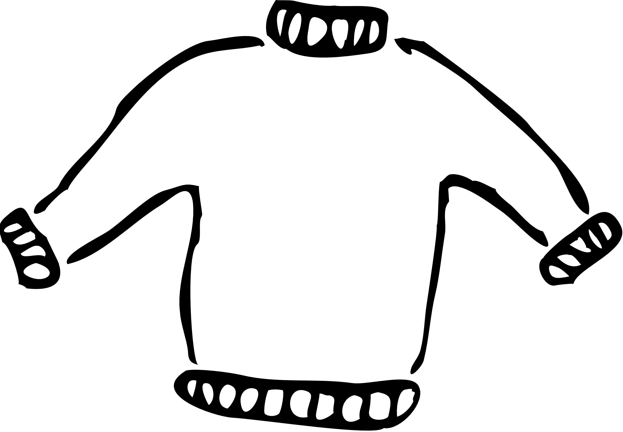 Clipart winter sweater.  collection of black