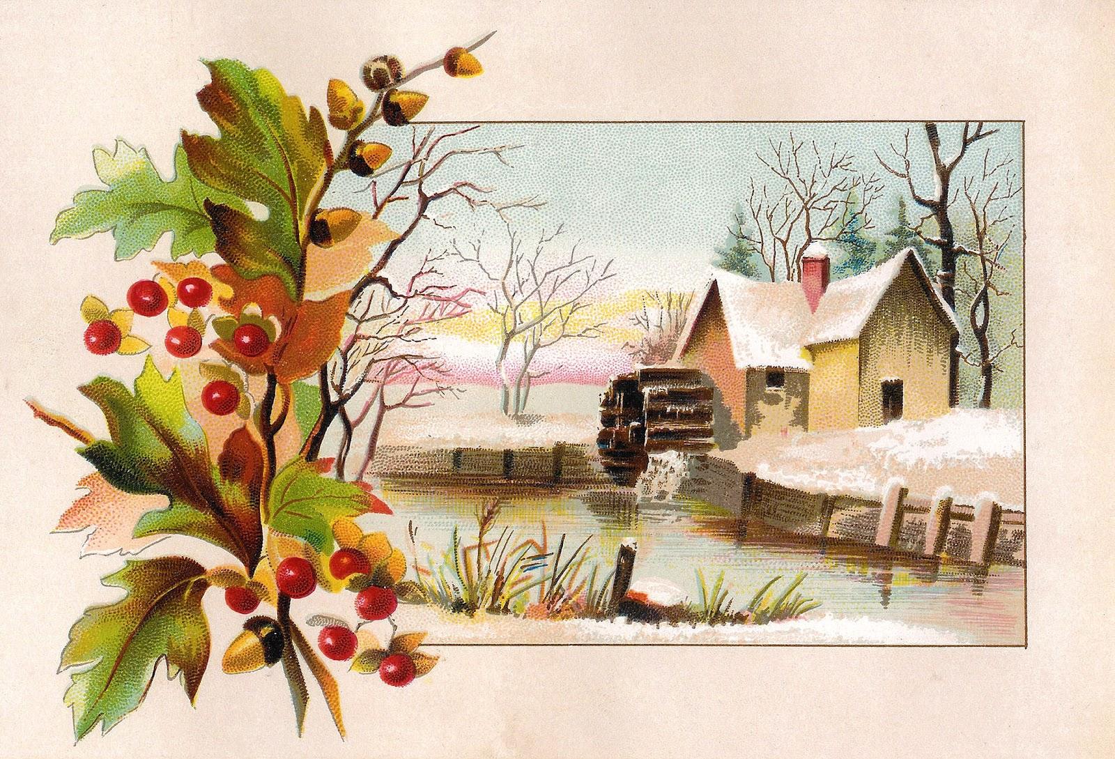 Winter clipart victorian. Antique image vintage scrap