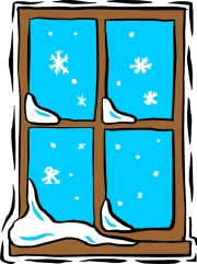 Free snow outside cliparts. Winter clipart window