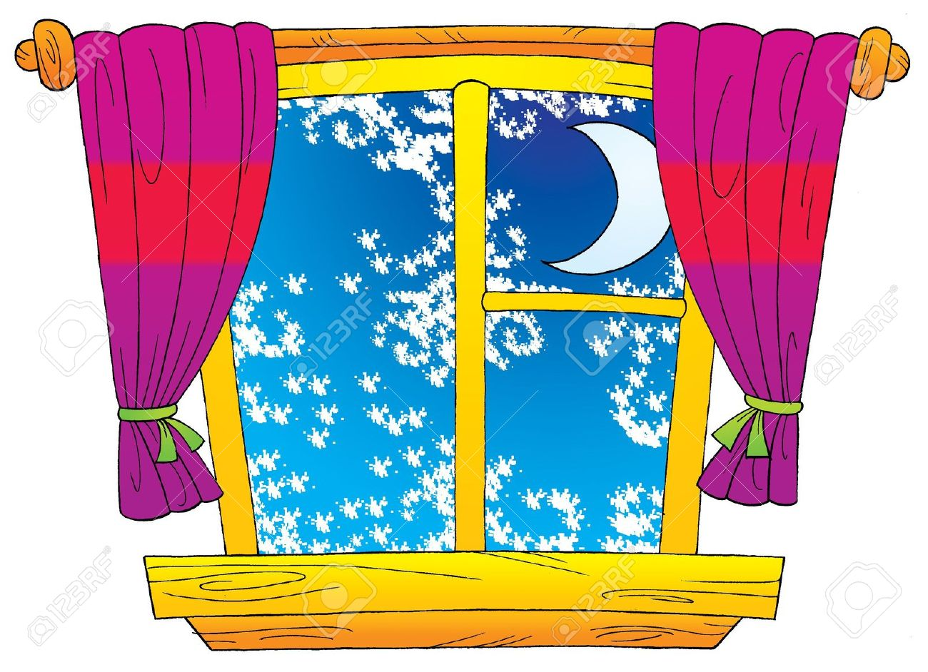 Winter clipart window. Panda free