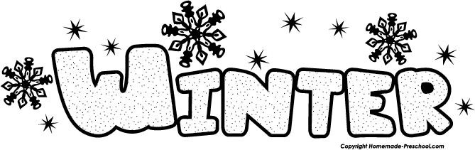 Free . Winter clipart word