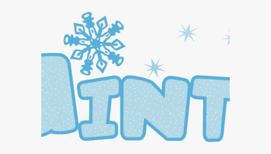 Winter clipart word. Transparent png