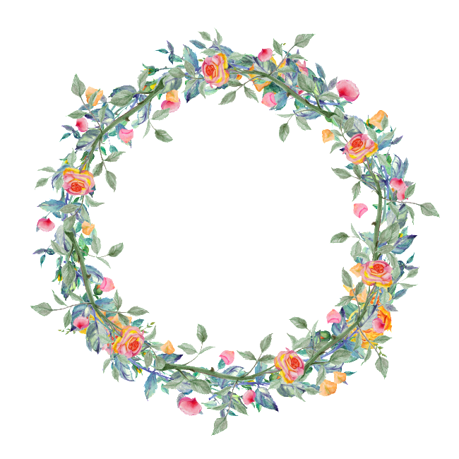 Clipart winter wreath. Dense blooming flower transparent