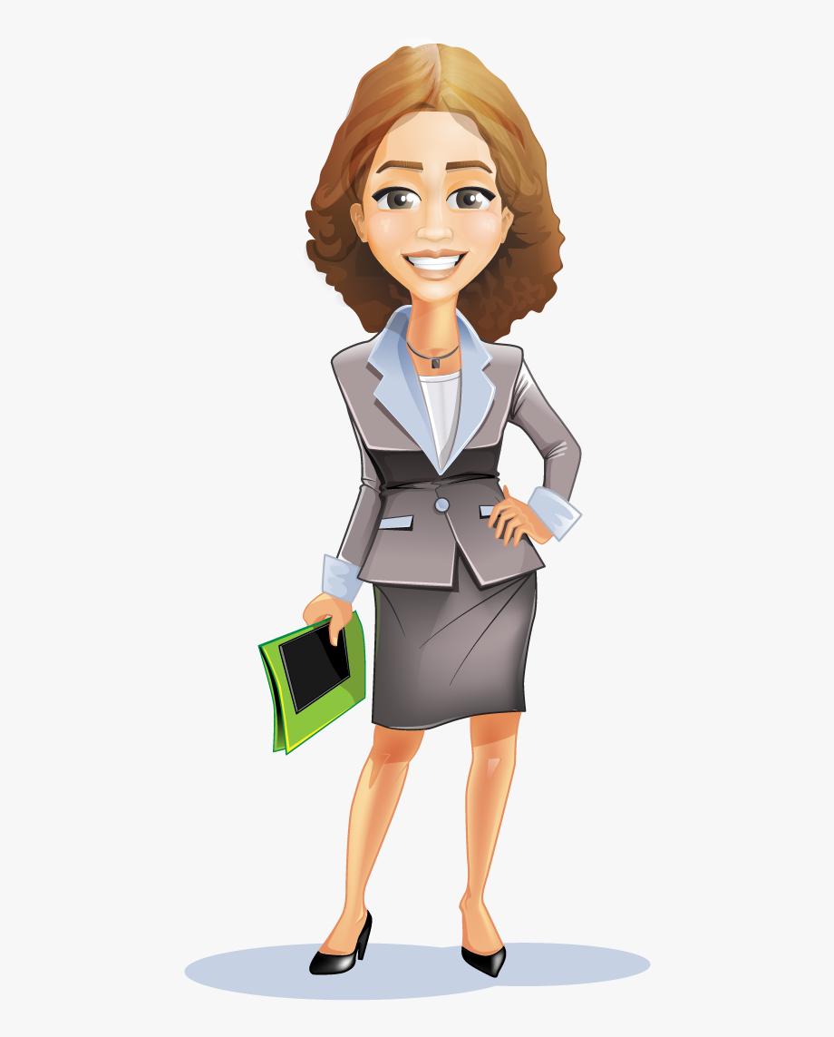 Women business suit person. Clipart woman