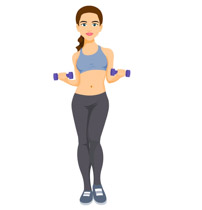 Free and exercise clip. Dumbbell clipart woman fitness