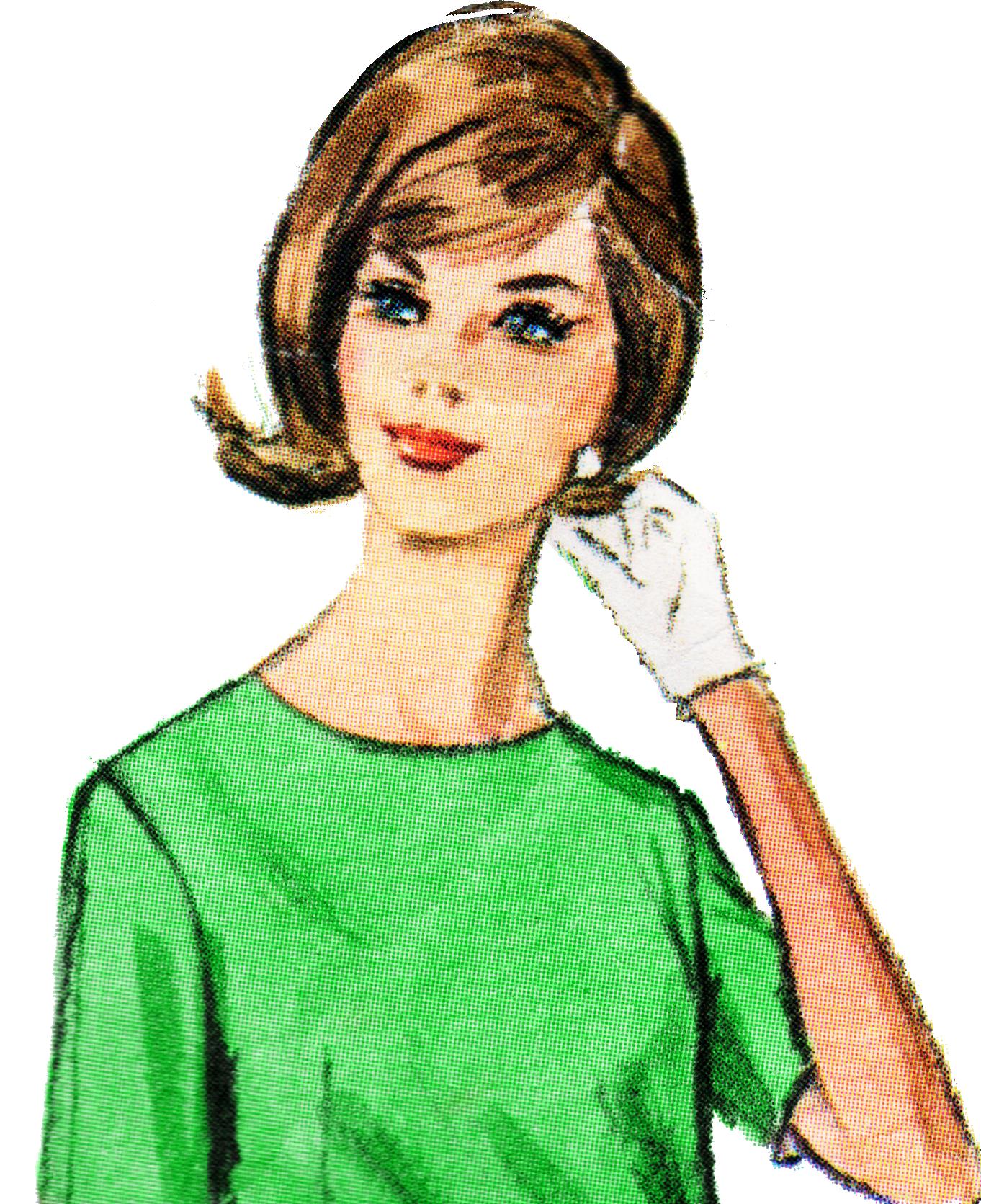 Free retro clip art. Lady clipart person