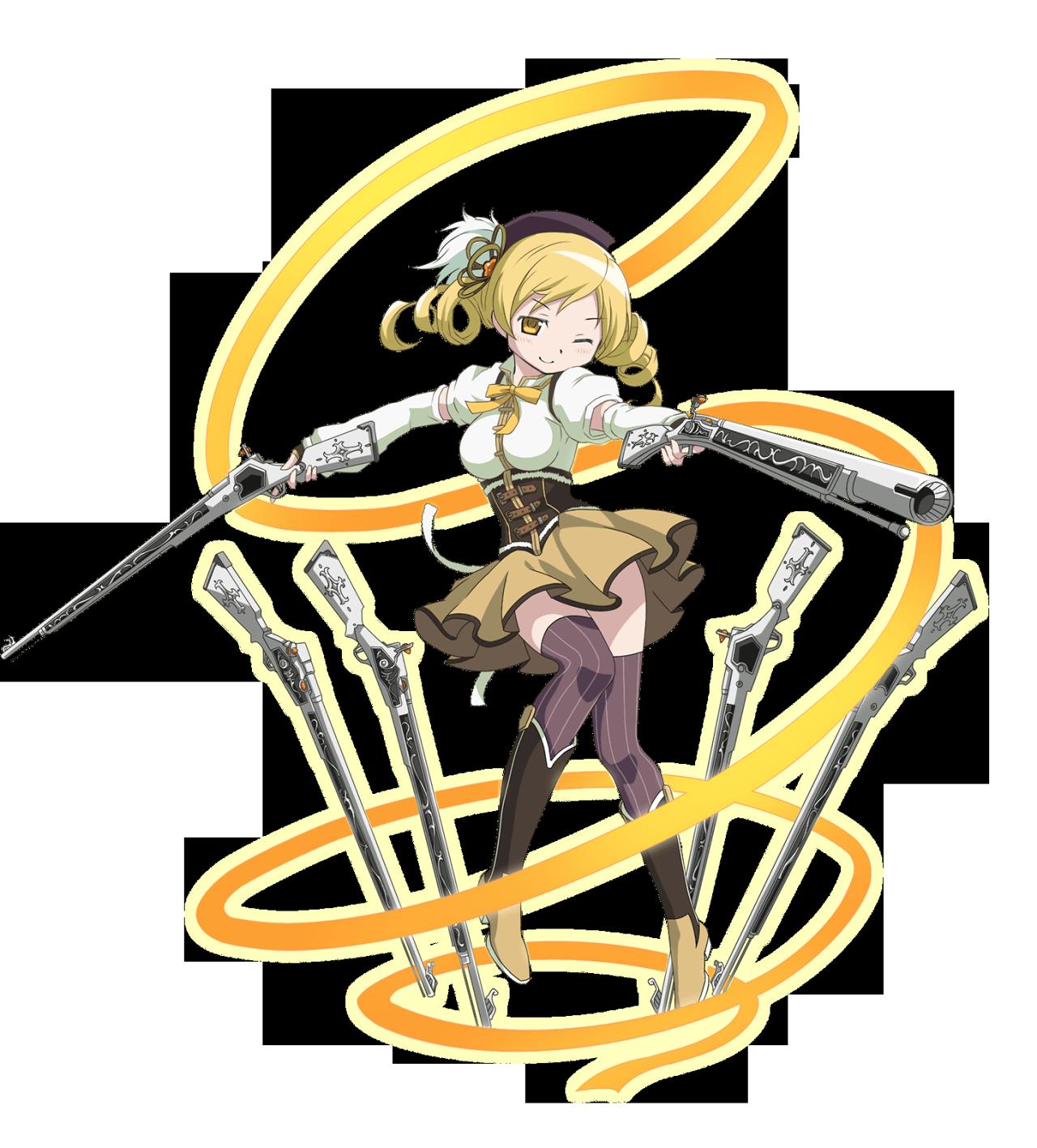 Clipart woman archery. Mami tomoe vs battles