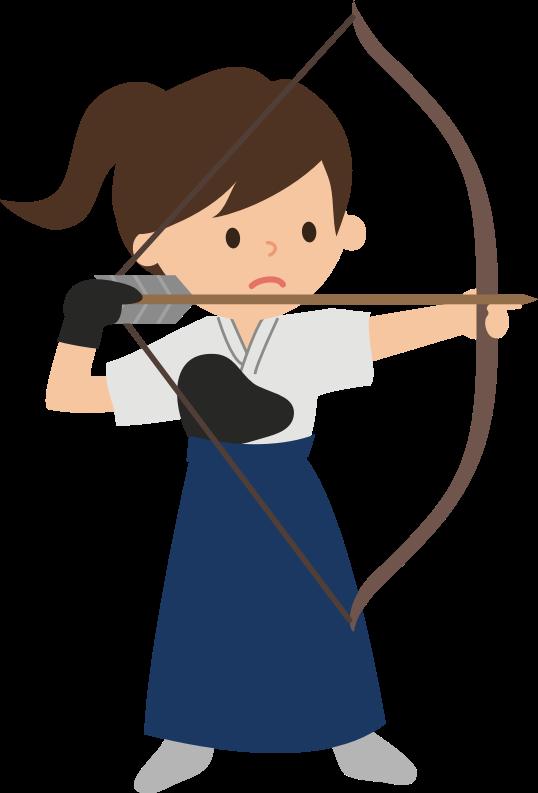 Female archer medium image. Clipart woman archery