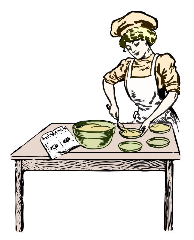 Clipart woman baker. In color medium image