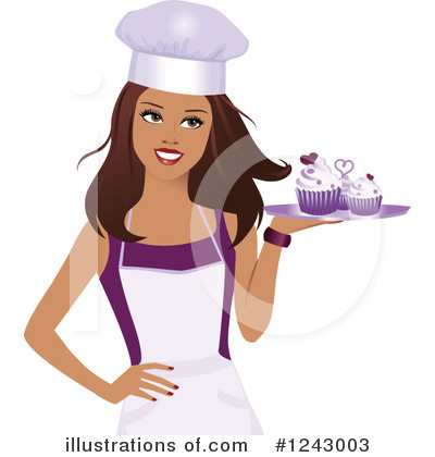 Chef illustration by monica. Clipart woman baker