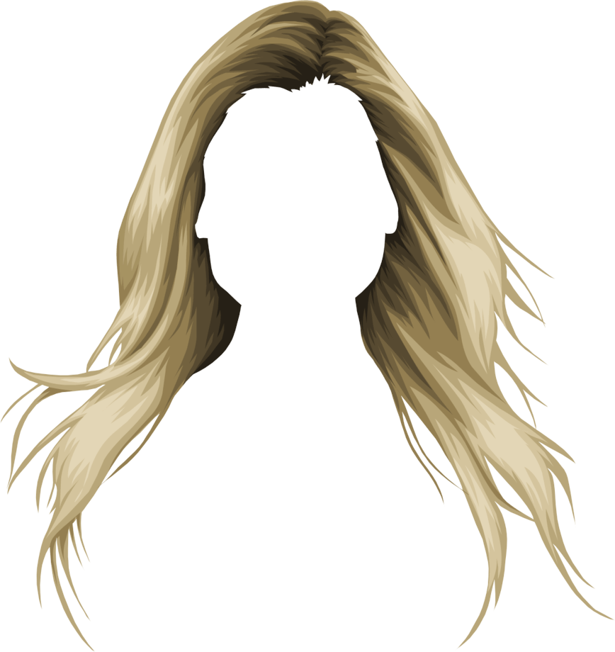 Hair clipart cool hair. Blond drawing long transparent