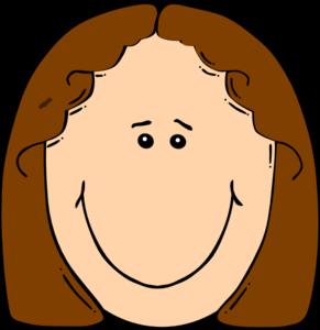 Woman clip art library. Girls clipart brown hair