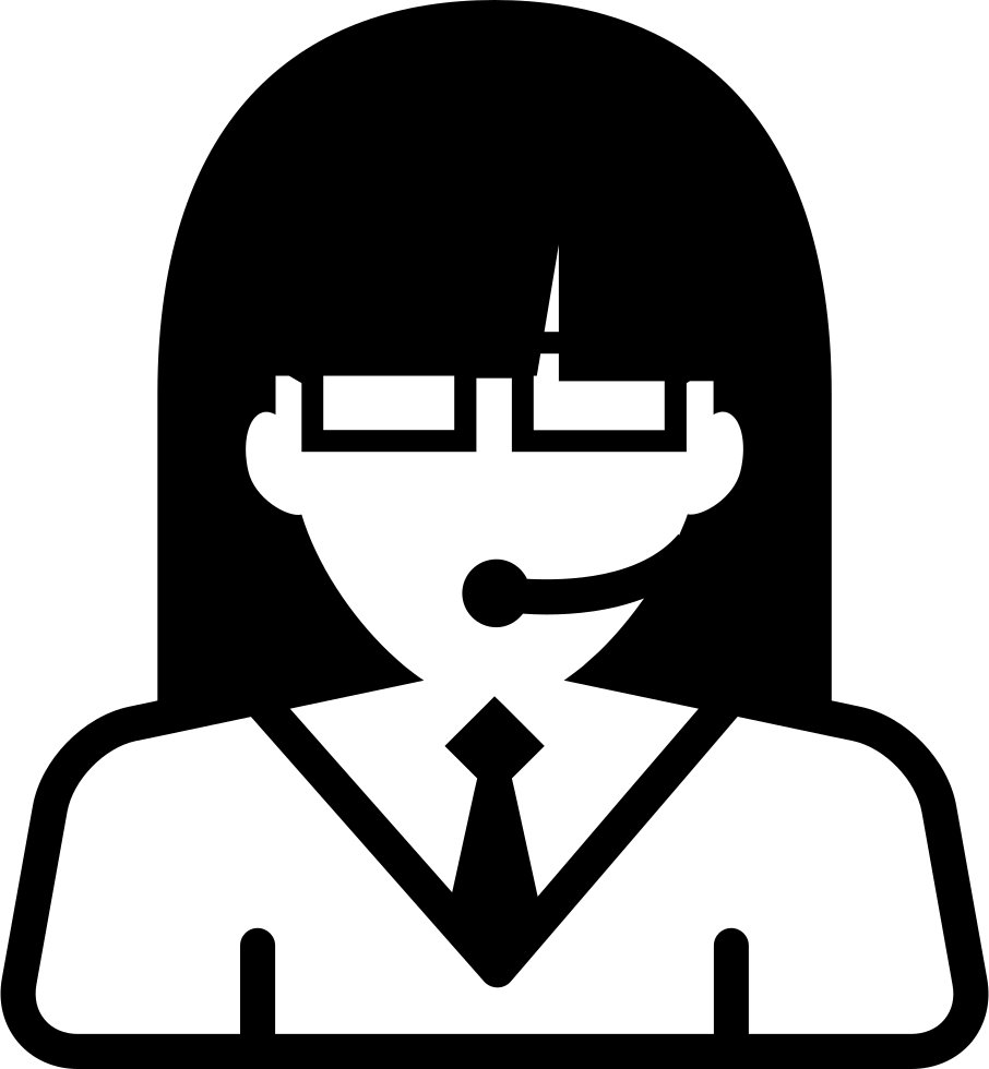 Girl svg png icon. Clipart woman call center
