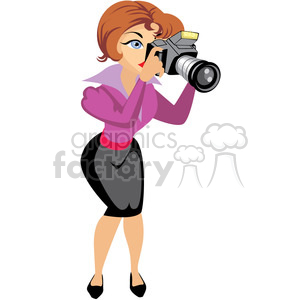 Photographer clipart woman photographer. Female illustration holding camera