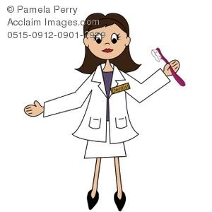 Dentist clipart person. Clip art illustration of