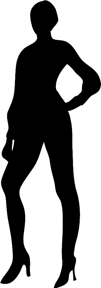 Man and woman silhouette. Humans clipart peope