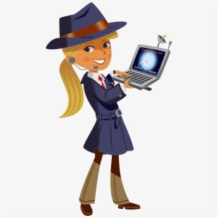 Clip art secret agent. Detective clipart female detective