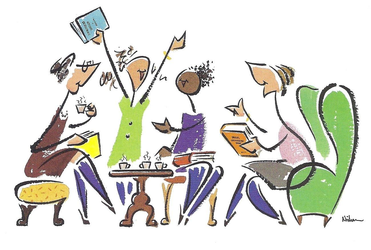 Club clipart club meeting. Book discussion clip art