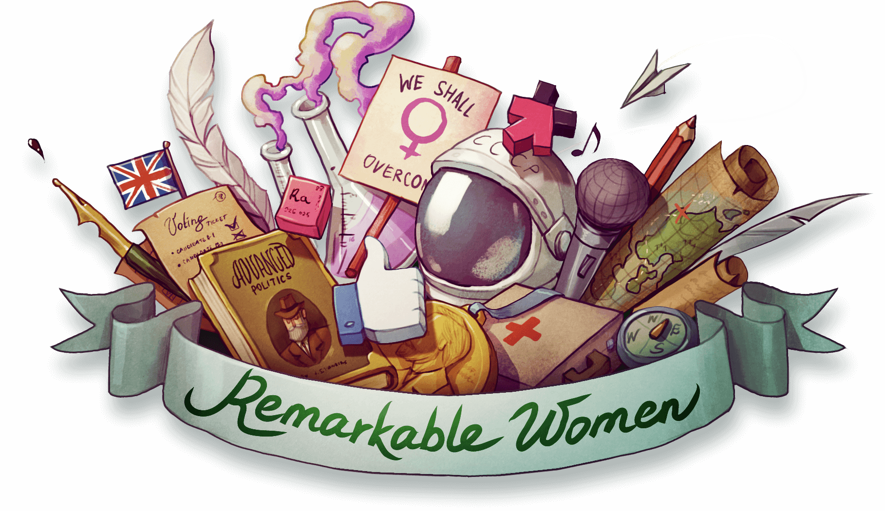 Remarkable women who shaped. Young clipart precocious